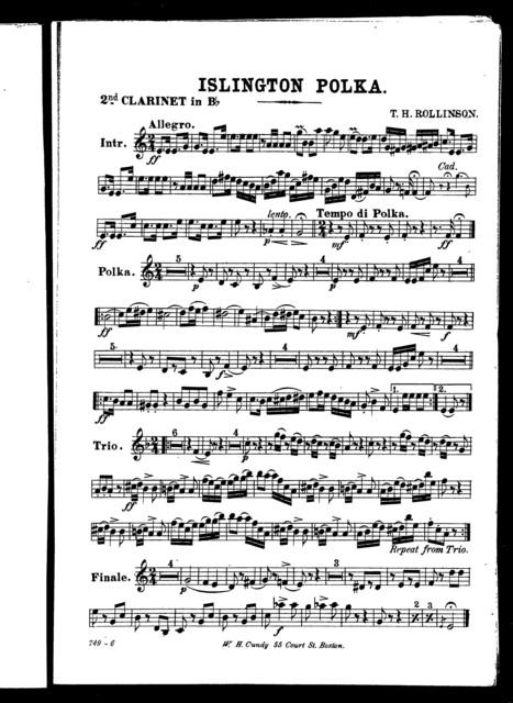 Islington polka [cornet, orchestra]
