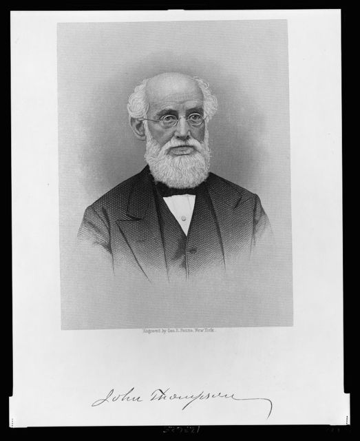 [John Thompson, head-and-shoulders portrait, facing slightly right] / engraved by Geo. E. Perine, New York.