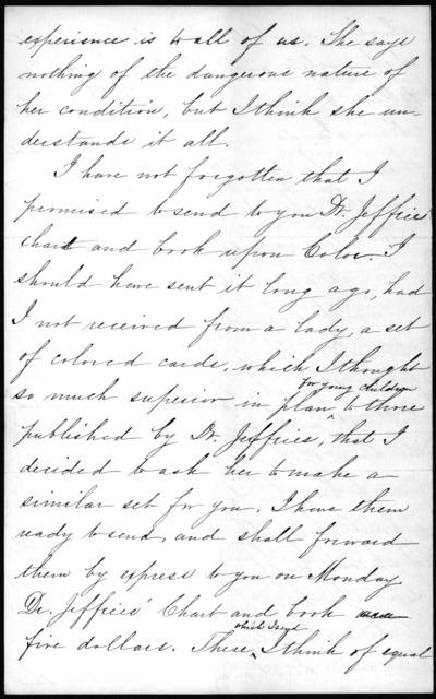 Letter from Sarah Fuller to Alexander Graham Bell, February 2, 1884