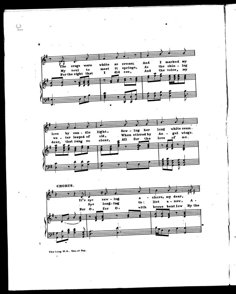 Long white seam, The [soprano or tenor]