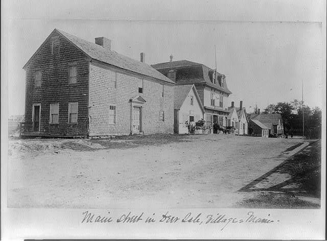 Main Street in Deer Isle Village, Maine