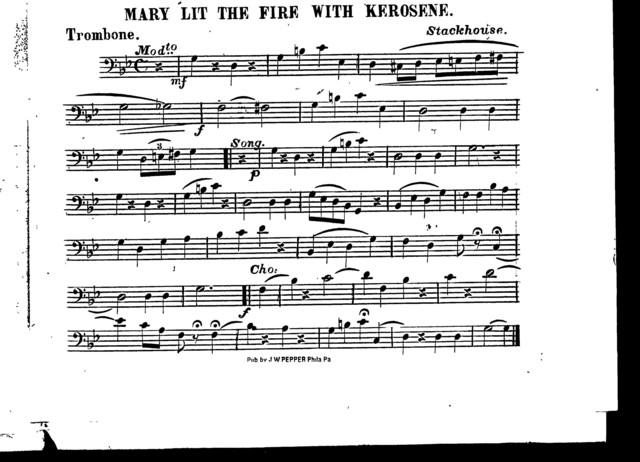 Mary lit the fire with kerosene
