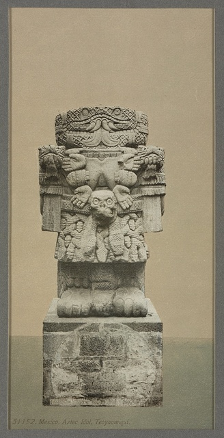 Mexico, Aztec idol, Teoyaomiqui [Coatlicue (statue)]