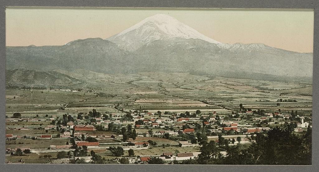 Mexico, Popocatapetl [sic] from Amecameca