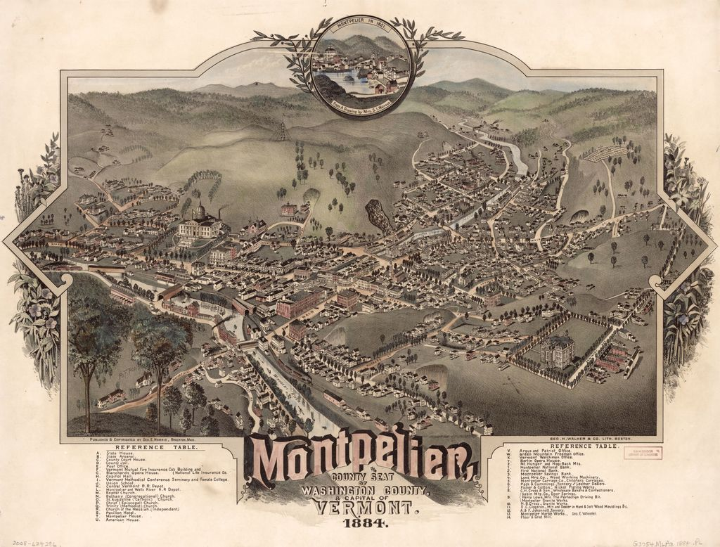 Montpelier, county seat of Washington County & capital of Vermont : 1884 /