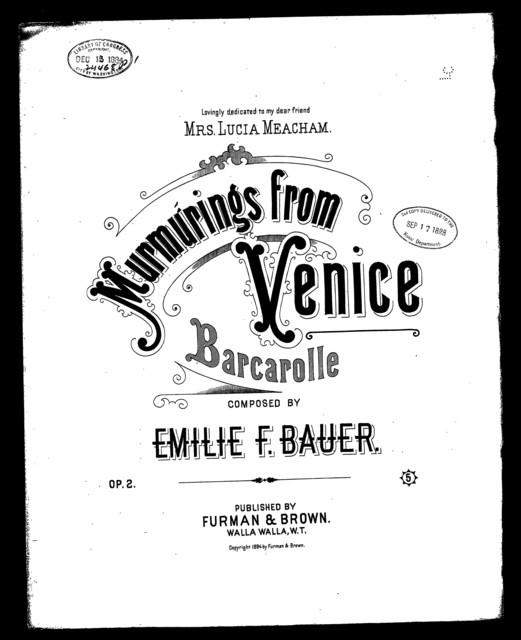Murmurings from Venice