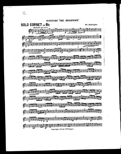 "Overture ""The Messenger"" [cornet]"