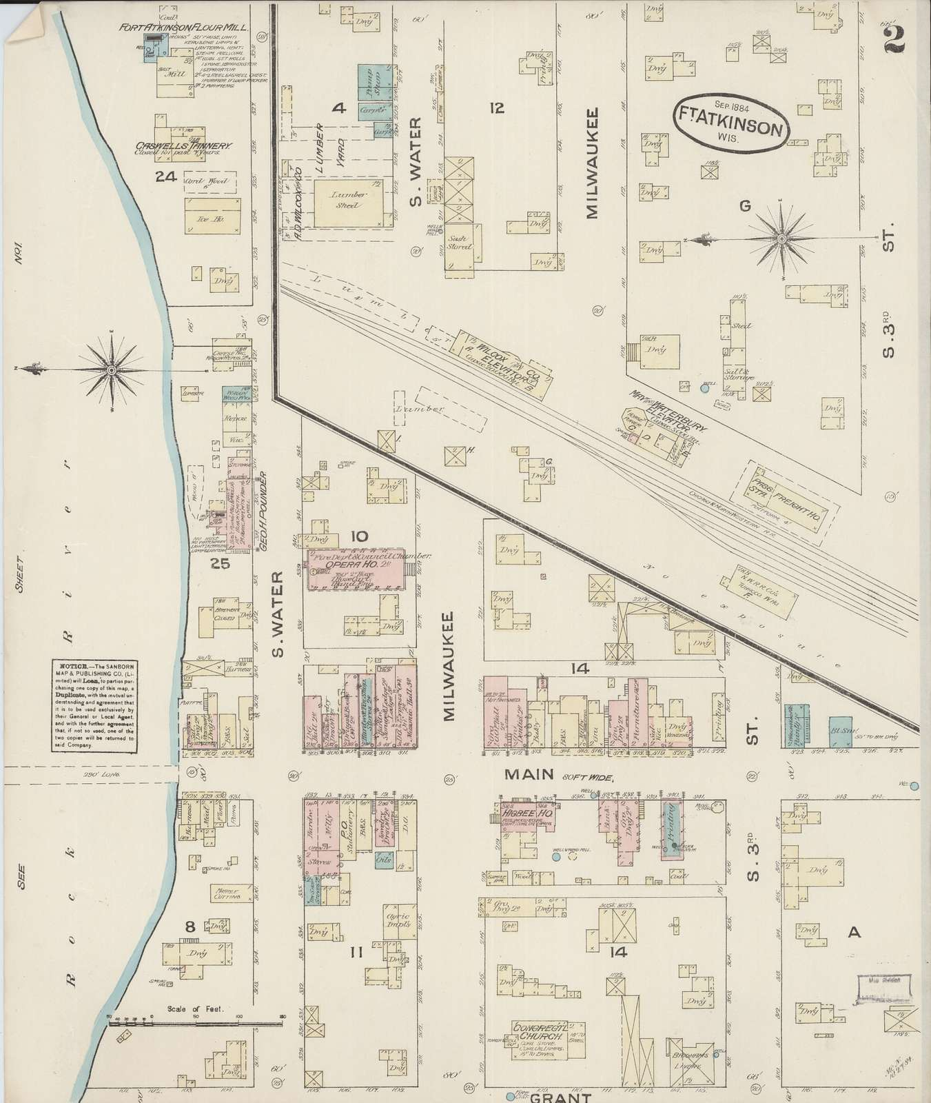 Sanborn Fire Insurance Map from Fort Atkinson, Jefferson County, Wisconsin
