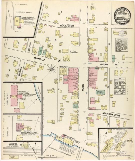 Sanborn Fire Insurance Map from Monroeville, Huron County, Ohio.