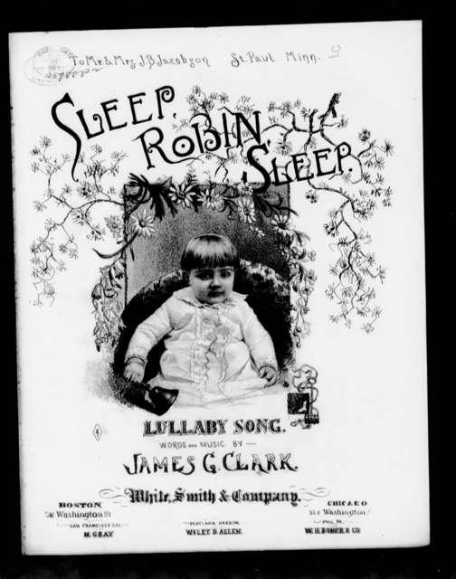 Sleep Robin sleep; Lullaby song