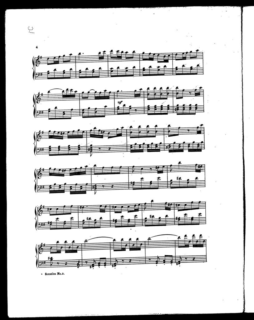 Sonatinas for small hands, no. 2