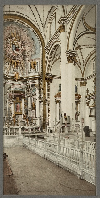 The altar, Church of Guadaloupe, [the Cathedral], City of Mexico