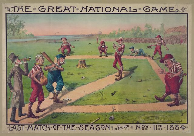 The great national game - last match of the season to be decided Nov. 11th 1884 / Macbrair & Sons Lith. Cin'ti, O.