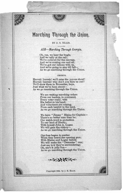 ... The starry old flag. by J. S. Ellis. Air-Star spangled banner ... [n. p.] 1884.