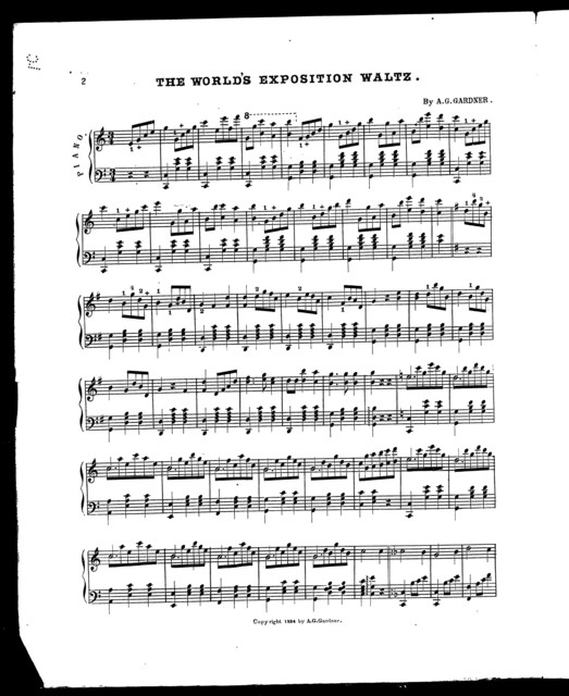 The  World's exposition waltz