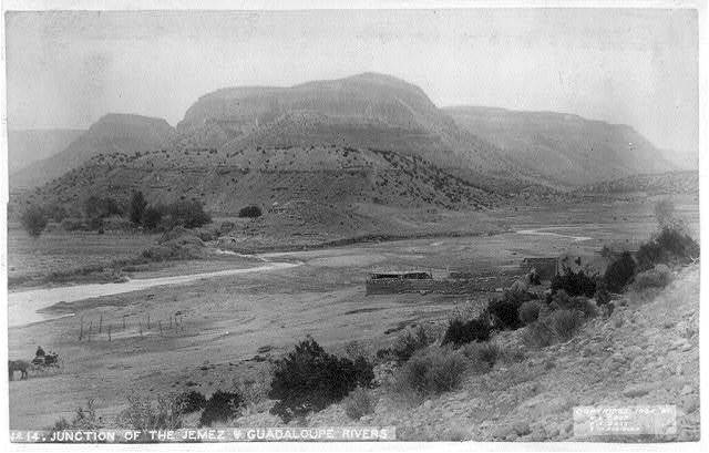 Views in New Mexico: Junction of the Jemez and Guadaloupe Rivers