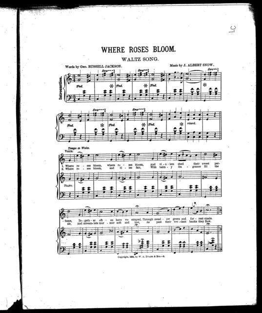 Where roses bloom; Waltz song