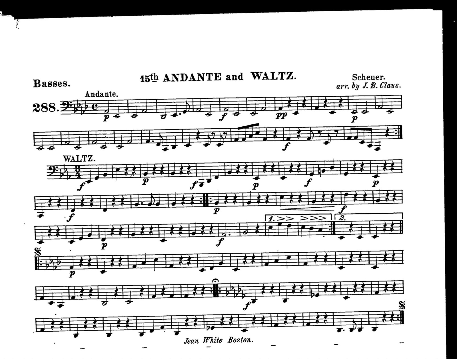 15th andante and waltz