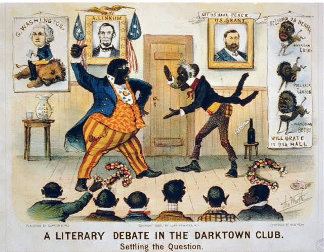 A literary debate in the Darktown Club--Settling the question / Tho. Worth.