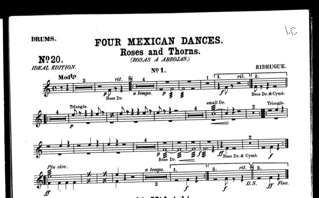 At midnight - La Media noche [from] Four Mexican dances