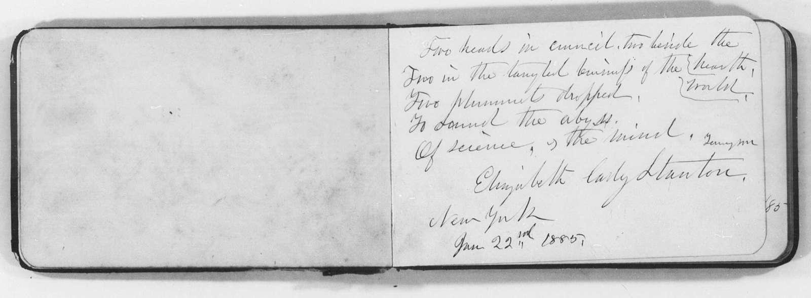 Autographs, 1885-1892