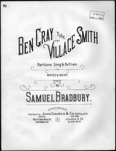 Ben Gray, the village smith