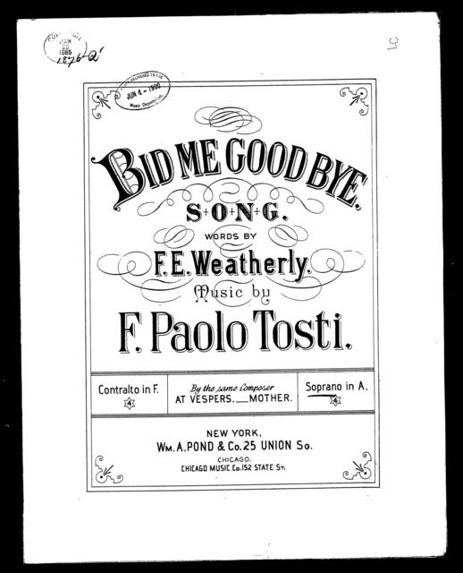 Bid me goodbye - Ah! Dimmi addio