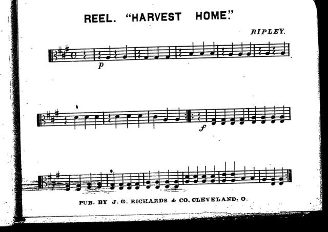 Danish dance; Copenhagen [and] Reel; Harvest home