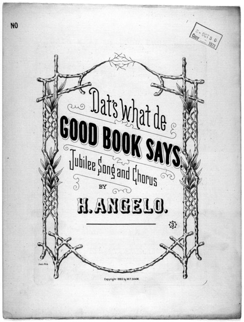 Dat's what de good book says