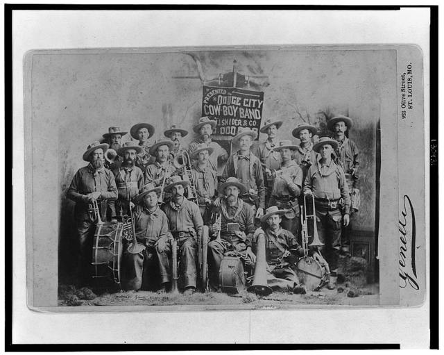[Dodge City Cow-Boy Band with their instruments] / Studio Genelli, Hulbert Bros., St. Louis, Mo.