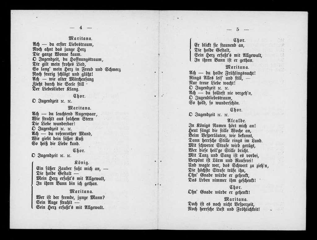 Don Cesar. Libretto. German