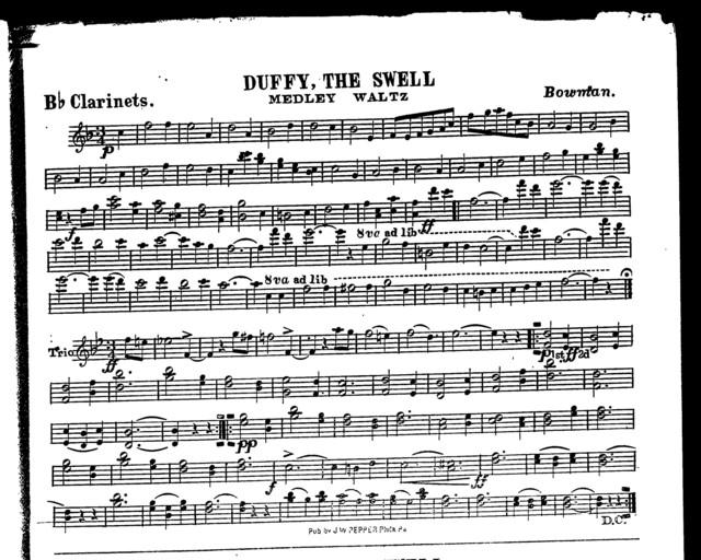 Duffy, the swell; Medley waltz