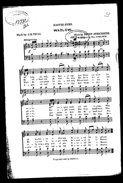Easter hymn; Wadlow