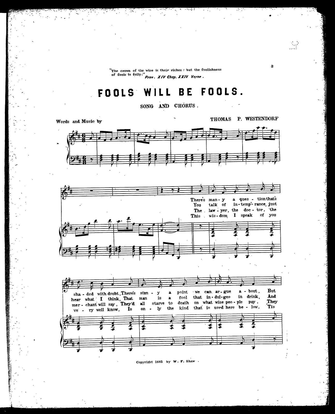 Fools will be fools