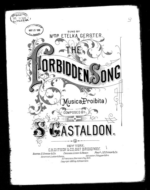 Forbidden song, The - Musica proibita