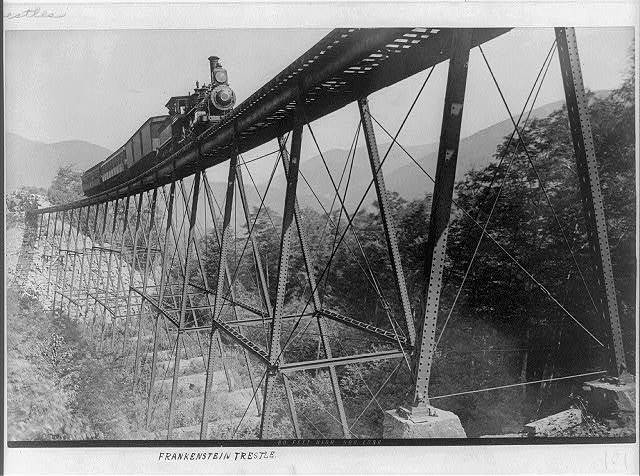 Frankenstein trestle 80 feet high, 500 long.