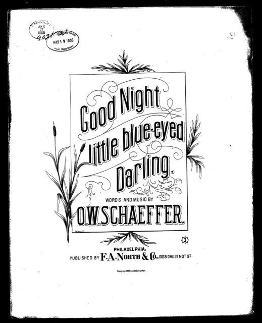 Good night little blue-eyed darling
