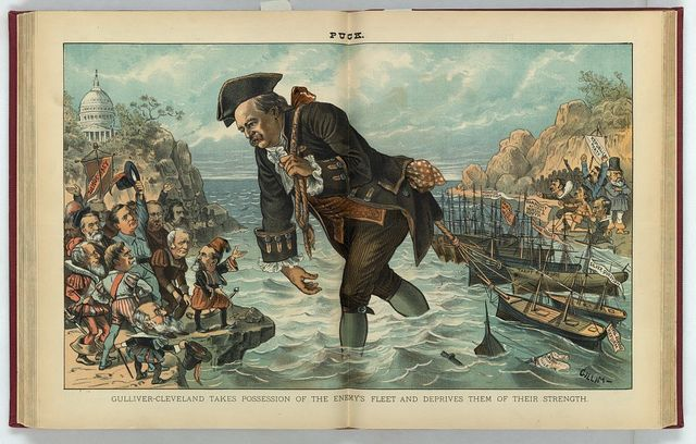 Gulliver-Cleveland takes possession of the enemy's fleet and deprives them of their strength / Gillam.