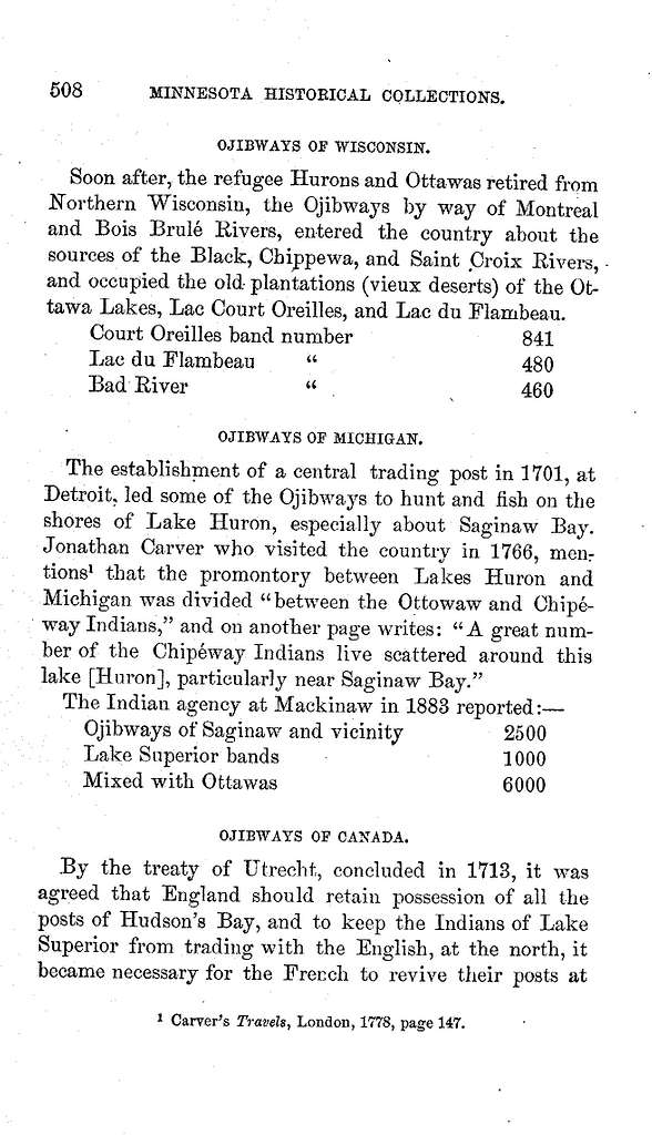 History of the Ojibways, and their connection with fur traders : based upon official and other records