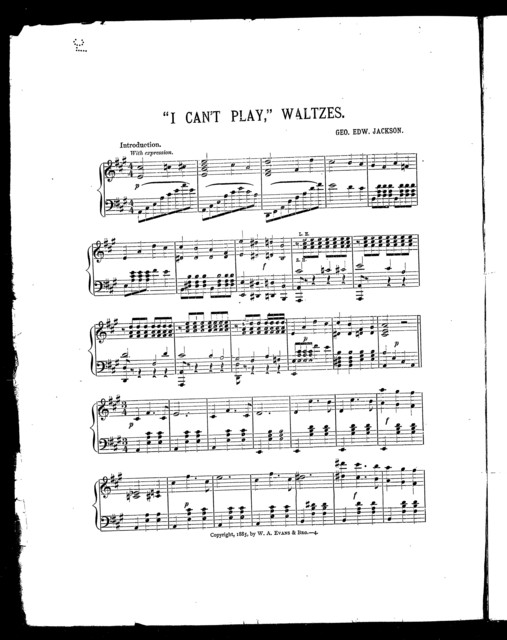 """"""" I cant' play"""" waltzes"""