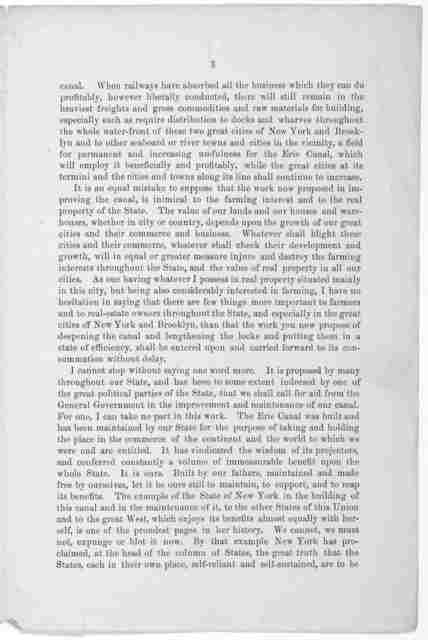 Importance of improving and maintaining the Erie canal by the state of New York without and from the general government. Address of O. B. Potter at a public meeting held in New York City, December 29, 1885.