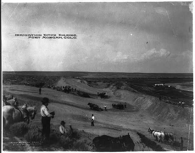 Irrigation ditch digging, Fort Morgan, Colo.