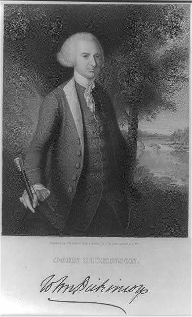 John Dickinson / engraved by J.B. Forrest from a portrait by C.W. Peale painted in 1770.