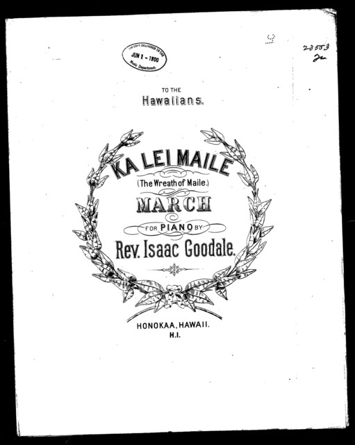 Ka Lei Maile - The Wreath of Maile; March