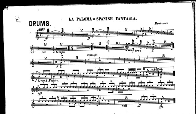 "La  Paloma; Spanish fantasia [and] Galop ""free and happy"" [orch..]"