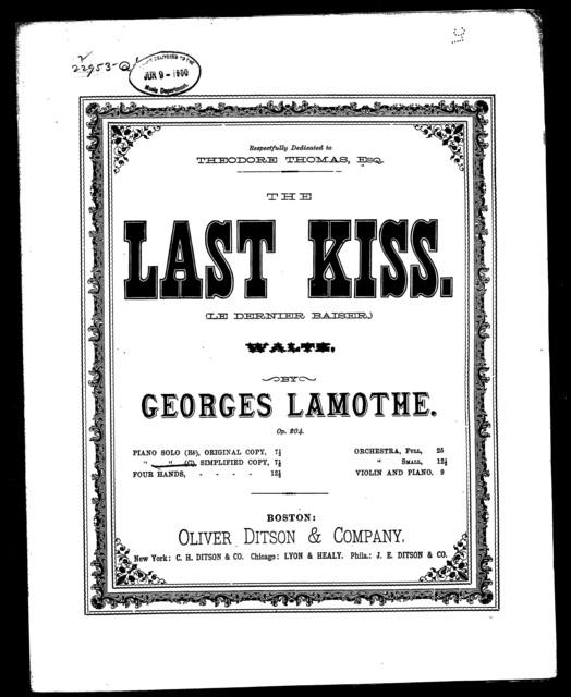 Last kiss waltz, The - Le Dernier baiser