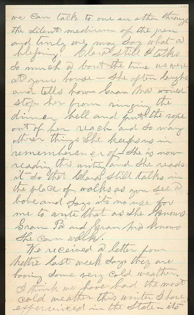 Letter from Giles S. Thomas to Thomas Family, February 15, 1885