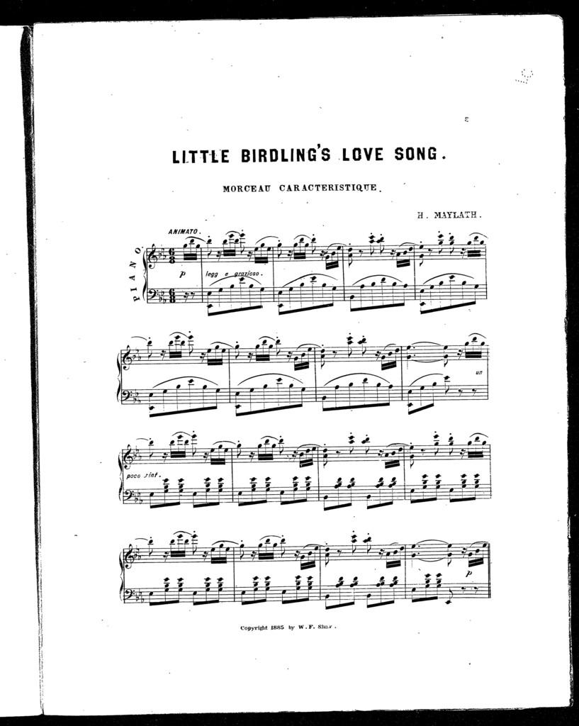 Little birdling's love song; Morceau caracteristique