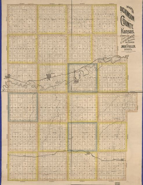 Map of Dickinson County, Kansas /