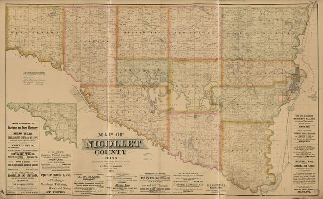 Map of Nicollet County, Minn. : from personal examination and public records.